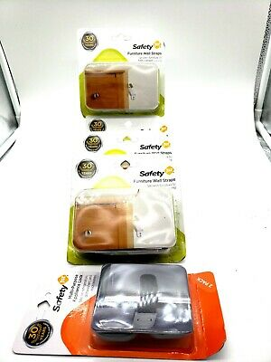 Safety 1st Furniture Wall Straps Lot of 4 (8straps) +Appliance Locks (2) in pkg.