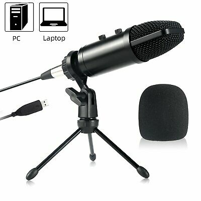 Koolertron USB Microphone Metal Condenser Recording Microphone with MIC Stand