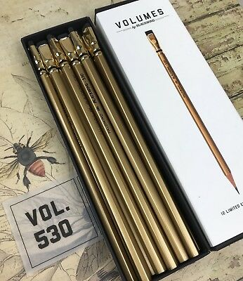 Blackwing Volume 530 Box of 12 Pencils Gold Pencil Sutter's Mill Limited Edition