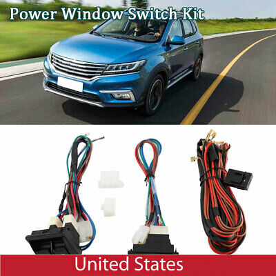 UNIVERSAL AUTO CAR Electric Window Control Switch Kit With ... on