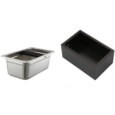 1X(Stainless Steel Espresso Coffee Knocking Box Container Coffee Grounds Ba B7G1
