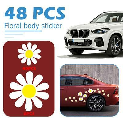 48pcs Daisy Flower Personalized PVC Car Stickers Auto Styling Body Decals JF#E
