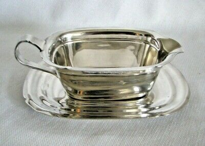 Reed & Barton Silverplate Mayflower Gravy Sauce Boat with Underplate #5000