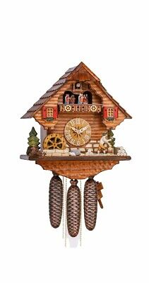 Cuckoo Clock Black Forest house with moving beer drinker KA 3744/8 EX NEW