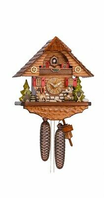 Cuckoo Clock Black Forest house with moving beer drinker KA 862 EX NEW