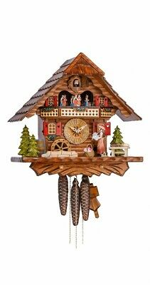 Cuckoo Clock Black forest house with music and dancers KA 3704 .. KA 3704 EX NEW