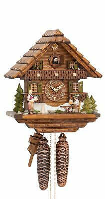 Cuckoo Clock Black Forest house with moving beer drinker KA 875 EX NEW
