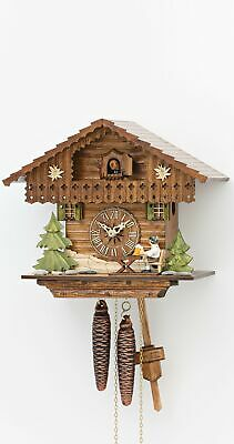 Cuckoo Clock Black Forest house with moving beer drinker KA 1649 EX NEW