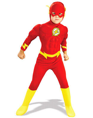 Flash Kids Superhero Costumes Boys Halloween Birthday Party MUSCLE Chest Outfit