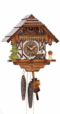 Cuckoo Clock Black Forest house with moving beer drinker KA 1678 NEW