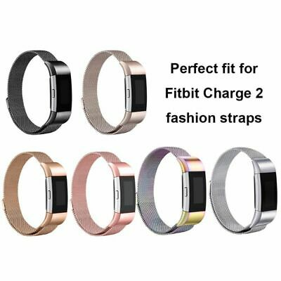Für FitBit Charge 2 Armband Metall Edelstahl Milanese Magnetic Loop Band Strap