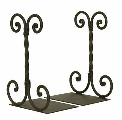 Twirled Scrolled Book End 4 Inch Wide And 3 Inch Deep Wrought Iron Heavy Duty