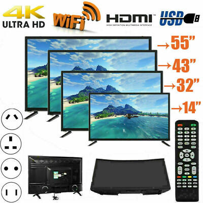 32''/43''/45'' WIFI 4K Smart TV HD 1080P USB HDMI LCD Curved Screen Television