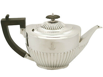 Sterling Silver Teapot - Queen Anne Style - Antique Edwardian (1904)