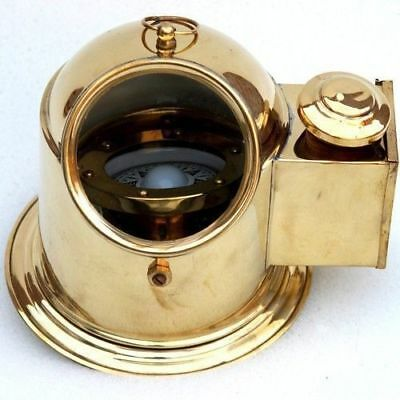 Brass Ship Engine Room Helmet Compass Gift Item