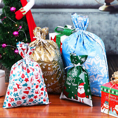 30Pcs Christmas Gift Bags Assorted Styles Gift Wrapping Christmas Goody Bags AU