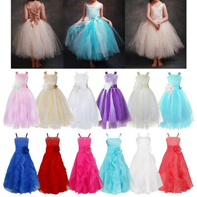 Flower Girl Dress Formal Pageant Wedding Bridesmaid Gown Prom Communion Dresses