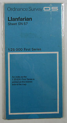 1959 old vintage OS Ordnance Survey 1:25000 First Series Map SN 57 Llanfarian