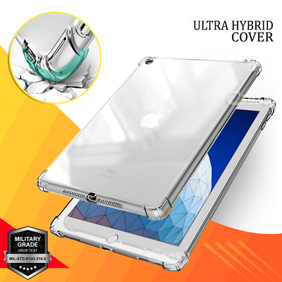 Apple iPad 7th 6th 5th Gen iPad Air 1 2 3 Clear Case Heavy Duty Shockproof Cover