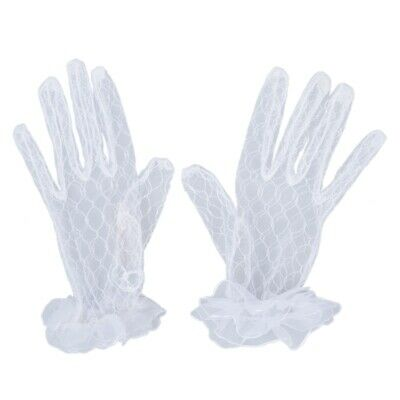 80X(White New Short Bridal Wedding Gloves Bridal Gloves C1U5)