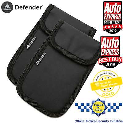 2x Genuine Defender Signal Blocker Car key Signal Jamming Pouch Black UK Stock