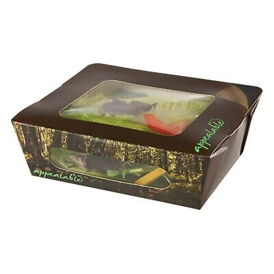 Colpac Salad Box - Woodland Design - Pack of 250 - Peel & Re-Seal