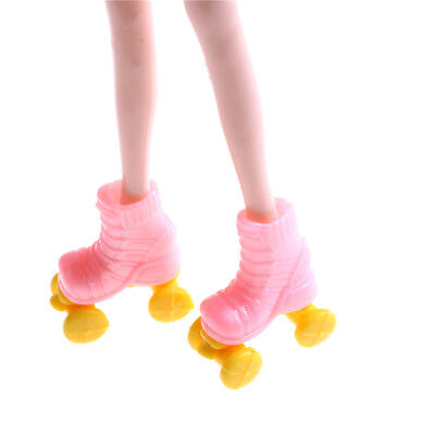 2pair Roller Skate Fancy Doll Shoes Toys for Girls Christmas Decorative IO