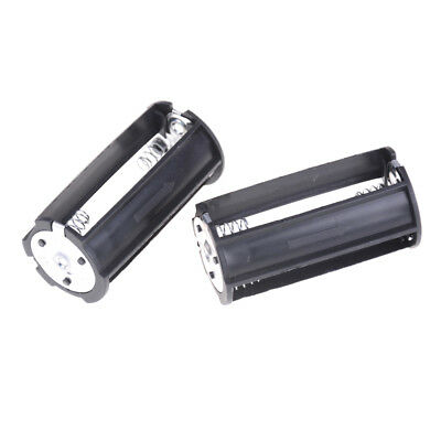 2Pcs 3 x AA Battery Plastic Holder Box Case  for Flashlight Torch IO