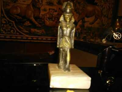 """""""OLD""""Copper statue of Pharaoh of ancient Egypt"""" VINTAGE"""""""