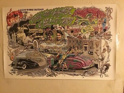 """ROBERT WILLIAMS """"A DEVIL WITH A HAMMER AND HELL WITH A TORCH"""" poster 34"""" X 22"""""""