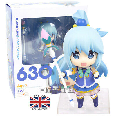 "Nendoroid KonoSuba Aqua 630# Face Changable 3.93/"" Action Figure Figurine NB"