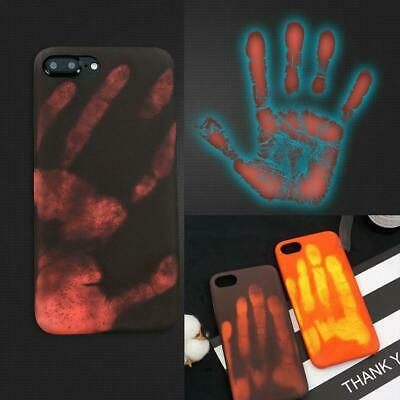 Fashion Thermal Sensor Case for iphone 8 7 XS Plus Heat Induction Phone Cover L2