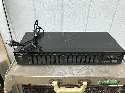 TECHNICS 7 Band Stereo Graphic Equalizer Model No SH-Z170 Tested