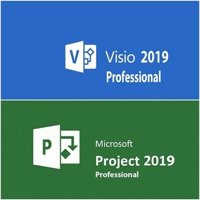 MS Visio 2019 Professional / Project 2019 Pro / Lifetime / 60 Sek Versand
