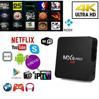 TV BOX ANDROID IPTV 4K 4GB RAM 32 Rom SMART DECODER FULL HD 1080P WIFI MXQ PRO