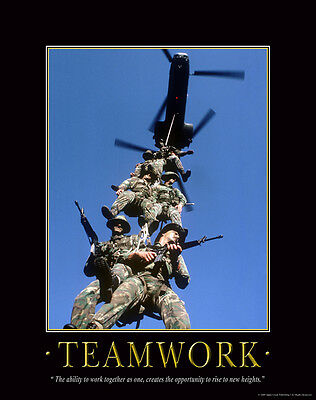 US Military Motivational Poster Art Marines Army Sniper Soldier Academy MILT27