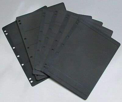 6 x Hagner Stamp Stock Sheets 55mm