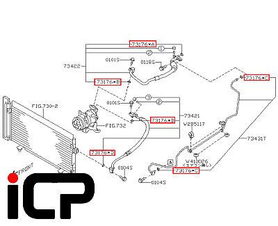 For 1993-2000 2002-2004 Subaru Impreza A//C System O-Ring and Gasket Kit 46197ZR
