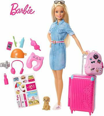 New Barbie Travel Doll and Accessories Children Girls Kids Gift Free Shipping AU