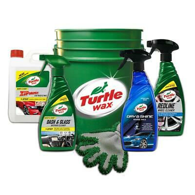 Turtle Wax 51069 6 Pack Quick & Easy Exterior Car Kit Wash & Wax Cleaning Bucket