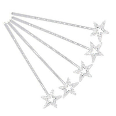 24pcs Star Magic Wand Girls Costume Props Star Fairy Stick for Cosplay