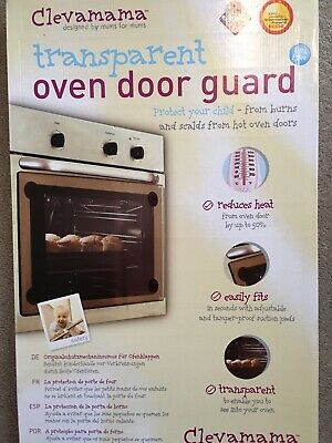 Clevamama Transparent Oven Door Guard with Fixings - Baby Proofing Child Safe