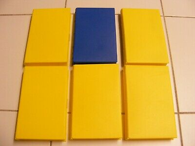 bundle of six empty vhs tape cases 5 yellow & 1 blue