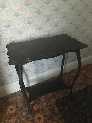 Antique Victorian Edwardian Ebonised Side or Card Table Art Nouveau style