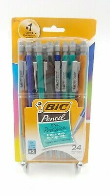 BIC Xtra-Precision Mechanical Pencil Fine Point (0.5mm) 24-Count Metallic Barrel