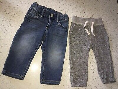 baby GAP toddler boys soft jeans & grey joggers 12-18m 1-1.5y