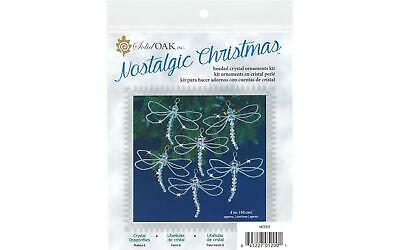 SOLID OAK SOL04858  KIT BEADED ORNAMENT SNOWFLAKES CRYSTL BL