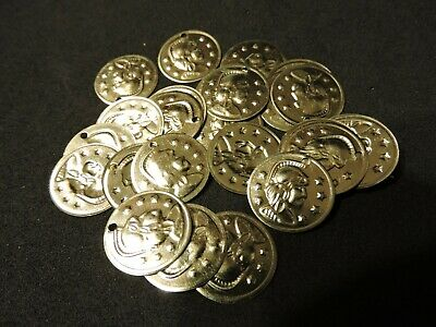 Bellydance Gypsy Jingle Coins (100 Gold Tone)