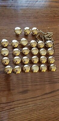Lot of 27 Vintage Solid Brass Round Ball Cabinet Drawer Pulls Knobs Handles