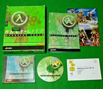HALF-LIFE OPPOSING FORCE Expansion - PC CD-ROM Game BIG BOX Complete CIB Tested!